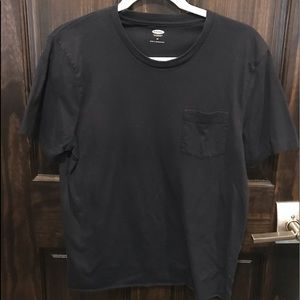 Navy Blue Mens Cropped Old Navy T-Shirt